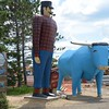 Paul Bunyan and Babe the big blue OX - parking area under construction but you can walk to it.