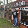 "At the Annie Oakley festival found this old painted building ""Eikenberry"" is my mom's maiden name"