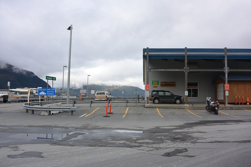 At the Whittier Terminal getting ready for my 5 day ferry out of Alaska and back into Washington!