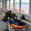 The cheap ferry you get deck rooms, this is what I selected and during off season they were not full so I did a triple decker and watched the whales and life go by!