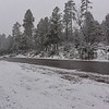 Well out running the ice storms in the lower states and getting snow in Northern Arizona