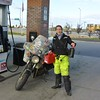 morning of my big ride to the Arctic Circle - getting my extra gas!