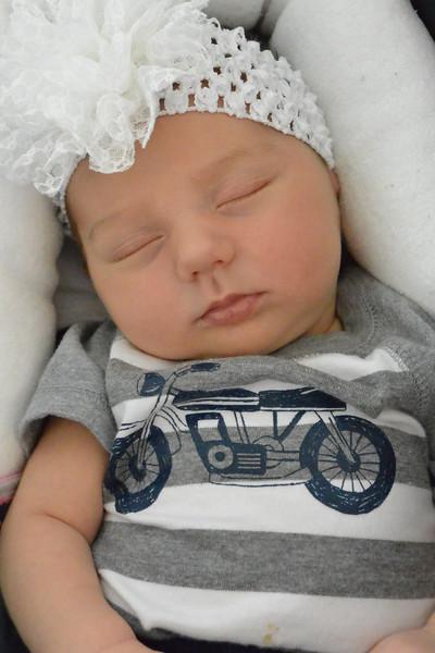 Visiting new family...I got her a moto onesie