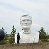 Heading to Theodore Roosevelt National Park just randomly found this of old Abe on the side of the road!