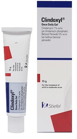 Clindamycin 1%, Benzoyl Peroxide 5% (Clindoxyl) Gel 15g