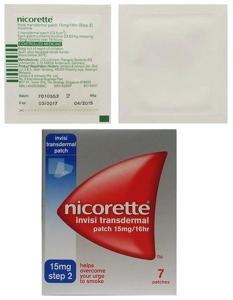 Nicotine 15mg/16hour Patch 7s (Nicorette)