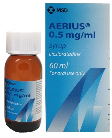 Desloratadine 0.5mg/mL (Aerius) Syrup 60mL