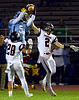 North Penn's Justis Henley intercepts a William Tennent pass Oct. 20, 2017. (Bob Raines--Digital First Media)