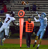 North Penn's AJ Catanazaro pulls in a long pass against WilliamTennent's Eddie North Oct. 20, 2017. (Bob Raines--Digital First Media)