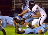 WilliamTennent's Ryan McEachern gets a face mask penalty after pulls the helmet off of North Penn's Oct. 20, 2017. (Bob Raines--Digital First Media)