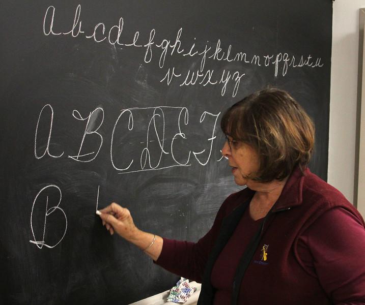 Saugus102318-Owen-cursive writing class01