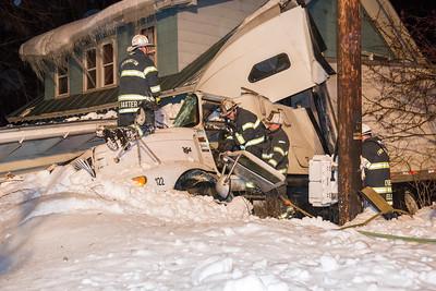 10-55 Tractor Trailer vs House Fairbanks Rd. - 01/03/17