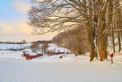 Jenne Farm, morning, with a fresh snow