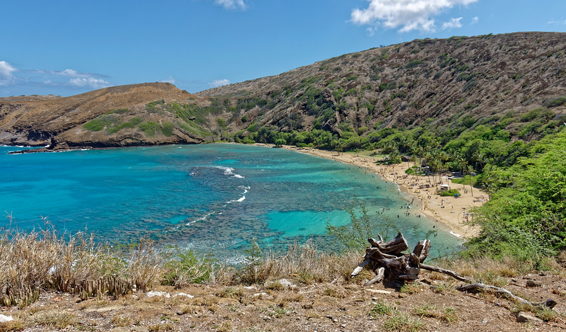 Hanauma Bay is a popular spot for snorkeling, with an extensive reef system close to shore.