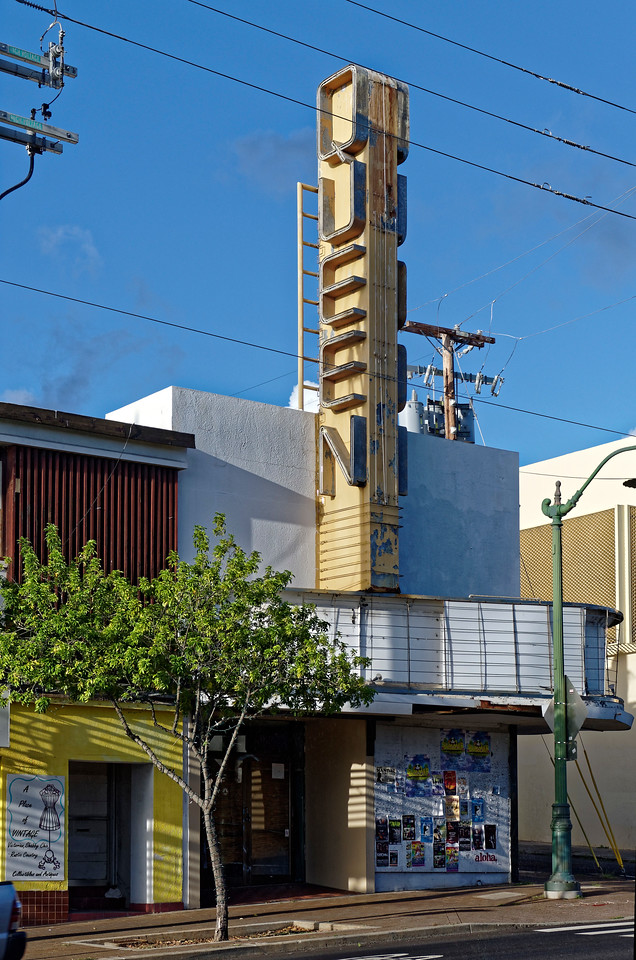"Somewhat sadly for those of us who remember it in its heyday, the old art house Queen theater in Kaimuki has been shuttered for decades. This was where we would eagerly go to see the latest offerings from Truffaut, Bergman, Kurosawa, et al. But whenever I think of the Queen, I'm also amused to recall the simple homemade typewritten alert, uncorrected over the years, that would be flashed on the screen before each show began: ""The Snack Bar will close in 5 minuets."""