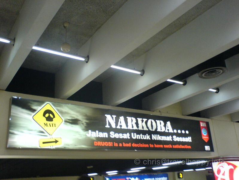 Drugs Warning, Jakarta Airport, Indonesia