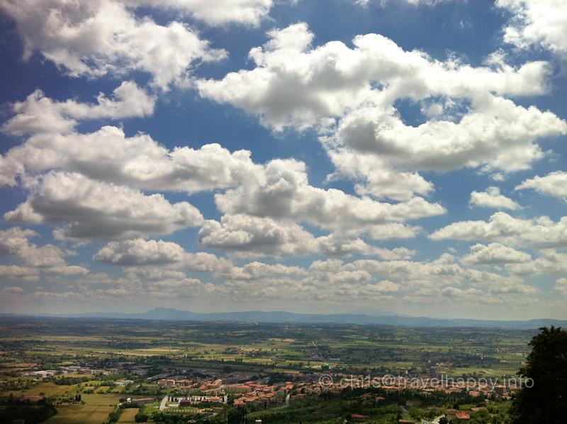 View from Cortona, Italy