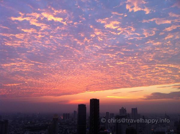 Vertigo sunset, Bangkok 28 January 2011