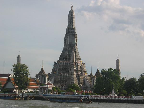 Wat Arun Bangkok 1 July 2005 with Fiona