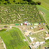 Aerial view of the Big Papi Maze at Davis Mega Maze in Sterling.