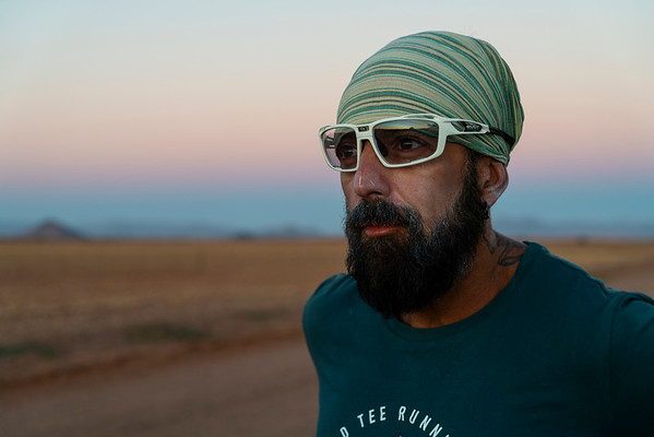 Stefano In Namib Desert On Trans Namibia Expedition