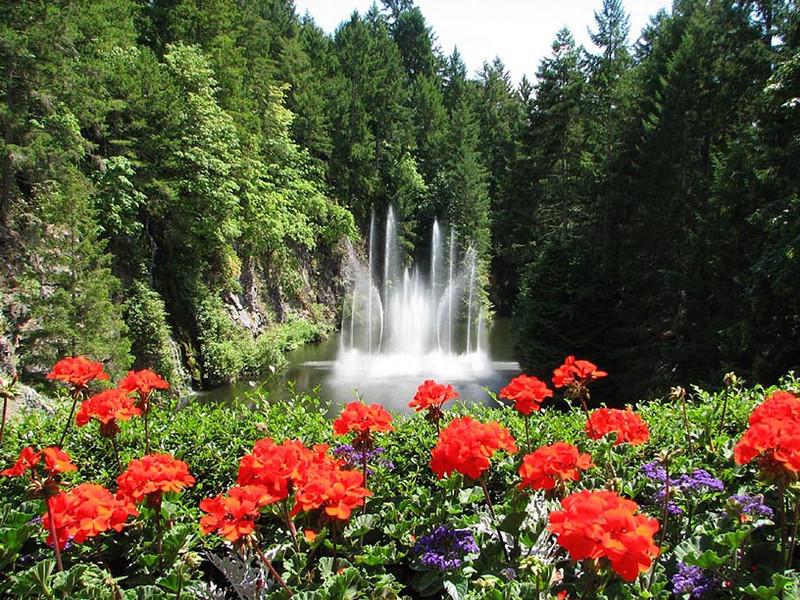 Fountain at Buchart Gardens, Vancouver Island