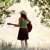 Playing in solitude, Topanga Banjo & Fiddle Contest, Agoura, CA