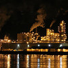 Nighttime factory view, Columbia River