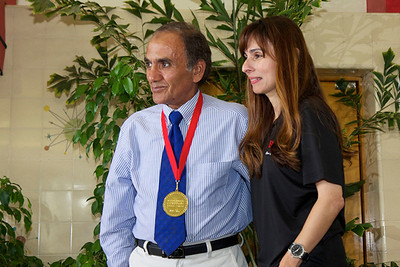 Ahmed Abou Harb with Sonya Christian.