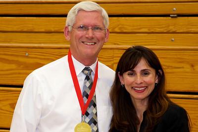 John Caldwell with Sonya Christian.