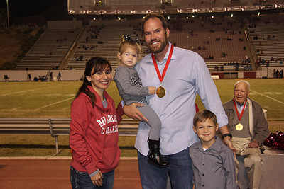 Colby Lewis and family with Sonya Christian.