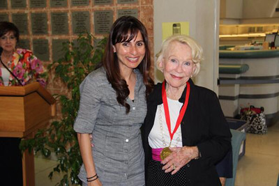 Betty Younger with Sonya Christian.