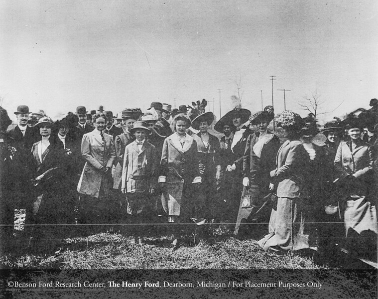 Women guests at the turning of the sod for the Detroit General Hospital, 1912. From the Collections of The Henry Ford: Acc. 1660, Box 117, #76158.2