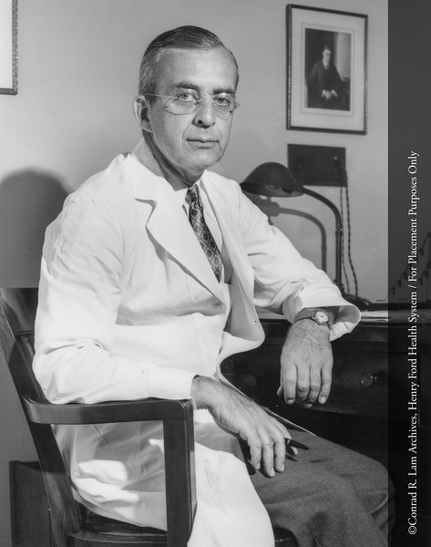 Dr. F. Janney Smith, Department of Medicine, Division of Cardio-Respiratory Diseases,1959. From the Conrad R. Lam Collection, Henry Ford Health System. ID=01-018
