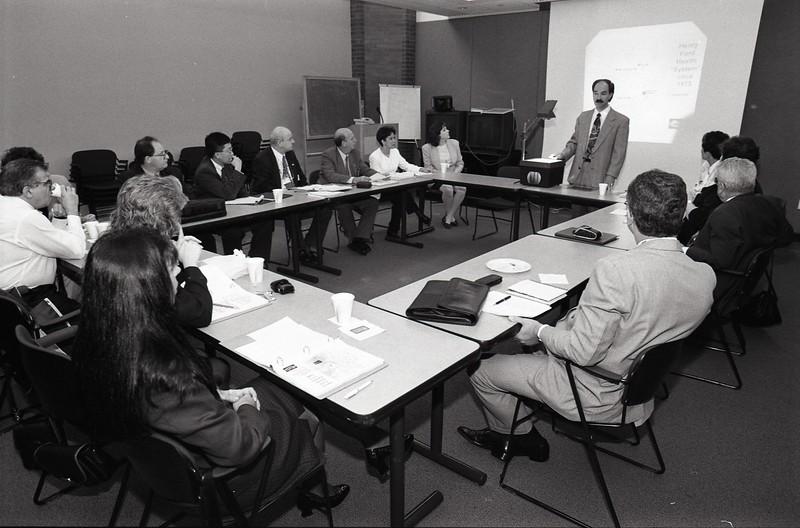 101494_740<br /> DR. IRVIN KAPPY, BRAZILIAN DOCTORS VISITING WEST BLOOMFIELD, 1997