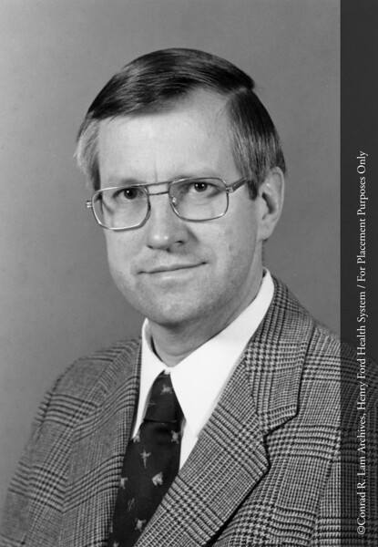 Dr. Ronald Burkman, Chairman of Obstetrics/Gynecology. From the Conrad R. Lam Collection, Henry Ford Health System. ID=10-010
