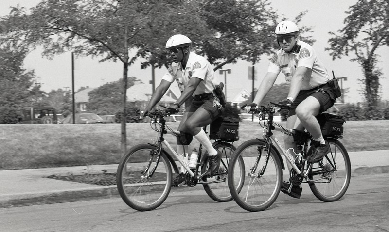 101494_258<br /> POLICE ON BICYCLES, 1995