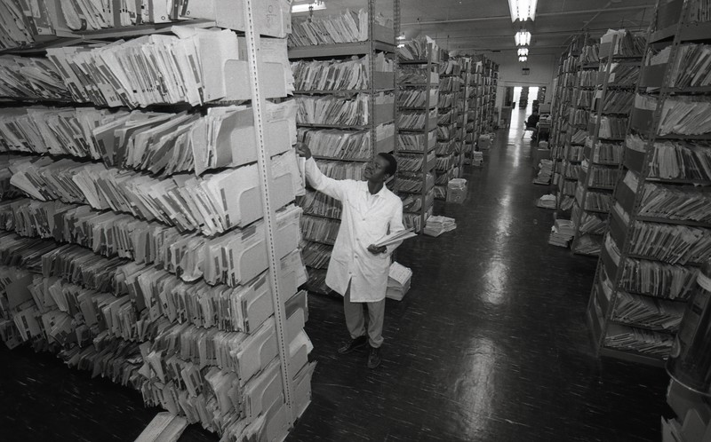 101494_084<br /> THE FILES AT 411 PIQUETTE,Detroit, Medical Records, 1994