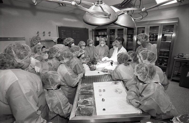 """101494_711<br /> """"TAKE YOUR CHILD TO WORK"""" DAY, SURG PATH, 1997"""