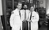 101494_222<br /> Neurosurgery - Dr.Tom Mikkelson, patient Kirk Dyer, Dr. Mark Rosenblum, 1994