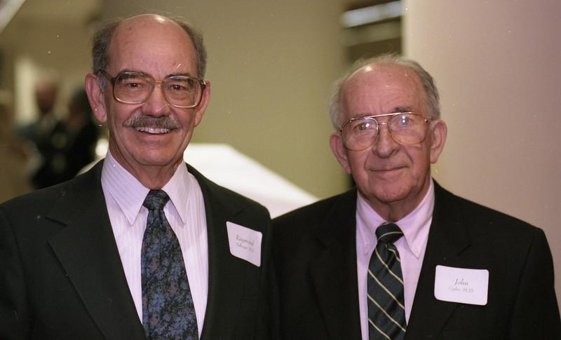 101494_353<br /> Dr. Raymond Mellinger (left) and Dr. John Sigler, DONOR WALL Dedication, 1995