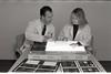101494_701<br /> DR. TOM MIKKELSEN REVIEWING BRAIN SCANS W/ STAFF MEMBER, 1997