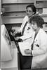 101494_708<br /> PATHOLOGY/ MOLECULAR LAB: MARIA WORSHAM & CHRISTINE JOHNSON WORKING ON COMPUTER IN LAB, 1997