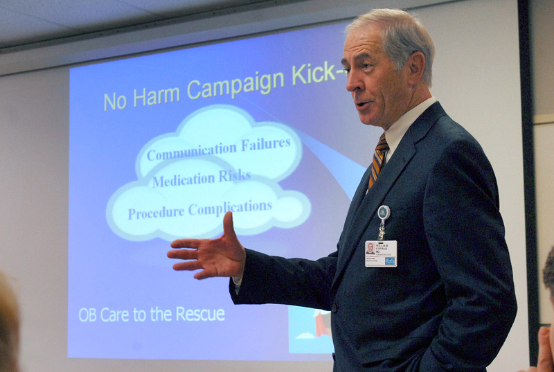 Dr. William Conway kicks off the No Harm campaign