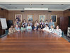 101494B_676<br /> NURSES/ HOSPITAL WEEK,NURSING STAFF IN BOARDROOM, 2001