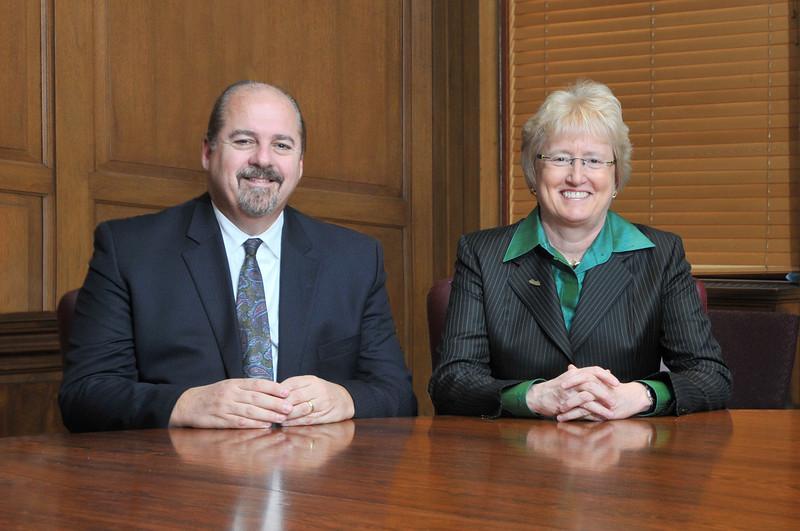 Bob Riney, Nancy Schlichting, Dr. Mark Kelley