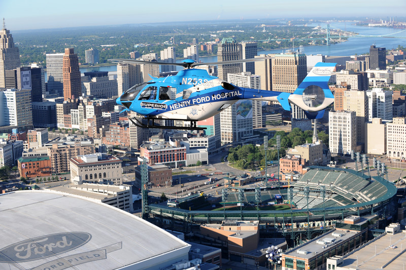 Henry Ford Helicopter stock images