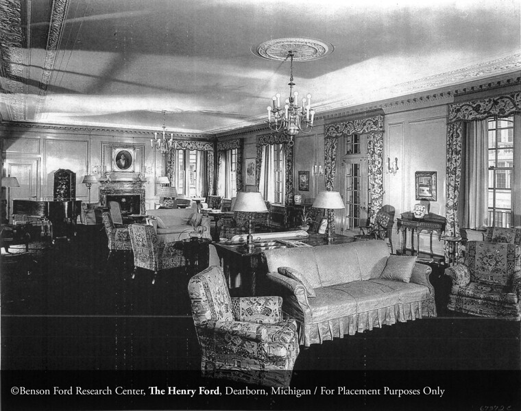 The Henry Ford Hospital School of Nursing and Hygiene Clara Ford Nurses Home designed by architect Albert Kahn in 1925. From the Collections of The Henry Ford. THF117493 (core)
