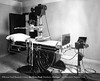 The first fluoroscopic unit in the Department of Roentgenology in 1918. From the Conrad R. Lam Collection, Henry Ford Health System. ID=02-003