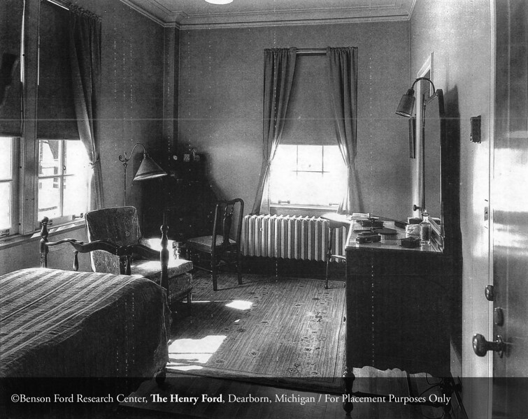 The Henry Ford Hospital School of Nursing and Hygiene Clara Ford Nurses Home student room in 1925. From the Collections of The Henry Ford. THF117475 (core)